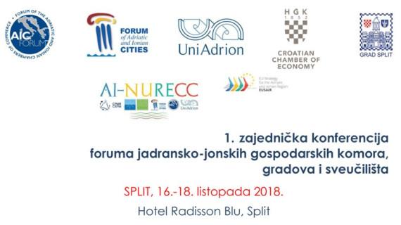 ŽK Split: Poziv na prvu zajedničku konferenciju foruma jadransko-jonskih gospodarskih komora, gradova i sveučilišta