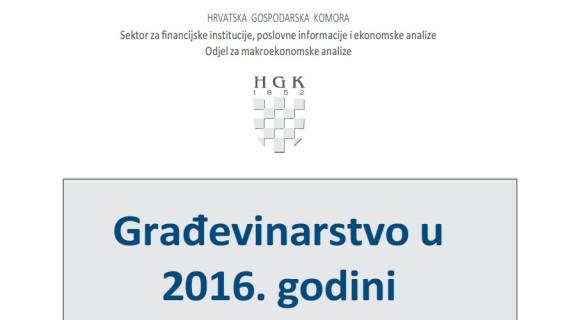 Građevinarstvo u 2016.