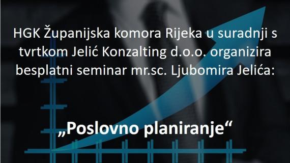 Besplatni seminar Poslovno planiranje