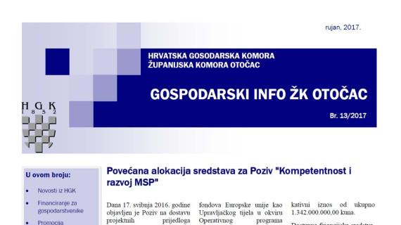 Gospodarski info ŽK Otočac 13/2017
