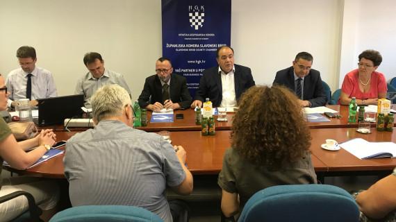 Gospodarskom vijeću ŽK Slavonski Brod predstavljena analiza Županije – razvojna raznolikost i gospodarski potencijali