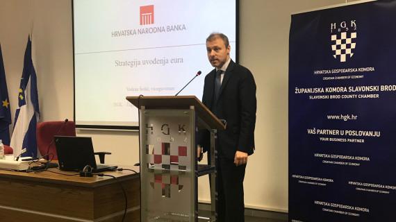 Strategija uvođenja eura u Hrvatskoj predstavljena u ŽK Slavonski Brod