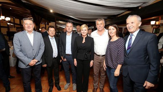 Predsjednica Republike Hrvatske Kolinda Grabar Kitarović posjetila Virovitičko-podravsku županiju