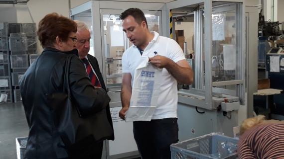 Predstavnici ŽK Sisak u posjetu tvrtki Optiplast
