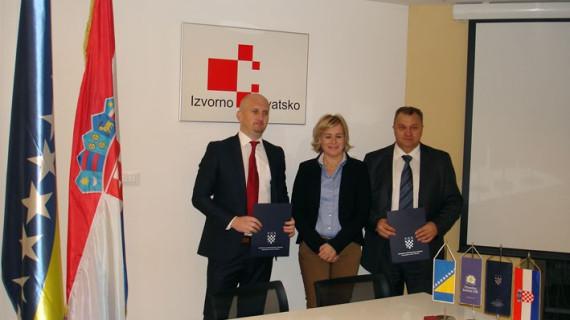 Potpisan Sporazum o suradnji Hrvatske gospodarske komore i Privredne komore Unsko-sanskoga kantona