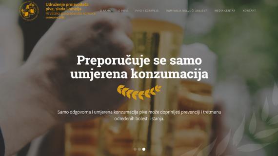Pokrenuta internetska stranica Udruženja proizvođača piva, slada i hmelja HGK