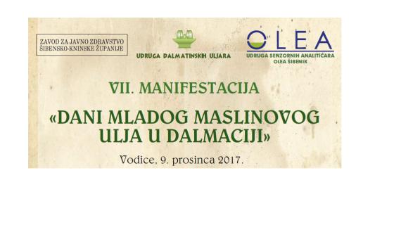 ŽK Šibenik poziva na sedme Dane mladog maslinova ulja u Dalmaciji