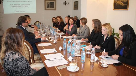 Prvo zasjedanje Američko-hrvatskoga inovacijskog vijeća 'Ron Brown'